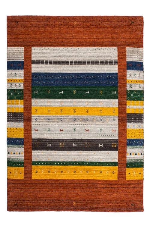 Vloerkleden en karpetten zuiver wol Nepali Rood