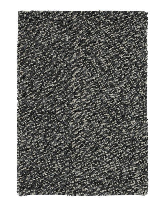 Wol vloerkleed Pablo kleur grijs