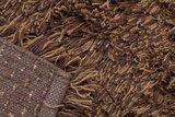 Hoogpolig wollen vloerkleed Highland kleur mixed bruin_