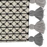 Wollen vloerkleed Belmonte 6016191005 zwart wit grijs_