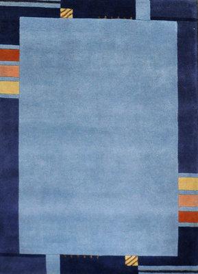 Wollen karpet Nepal Plus 9295 Blauw