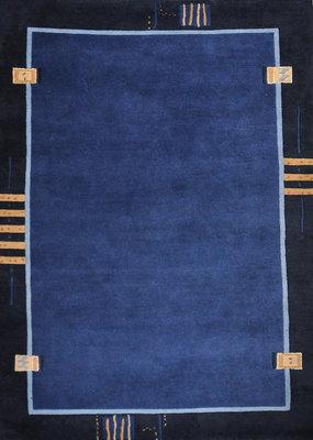 Wol tapijt Nepal Plus 92624 Blauw