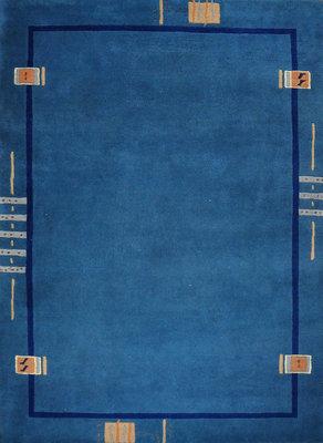 Wollen tapijten Nepal Plus 92625 Petrol