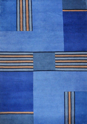 Nepal vloerkleden  Plus 92655 Blauw
