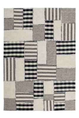 Wollen patchwork vloerkleed Como Naturel