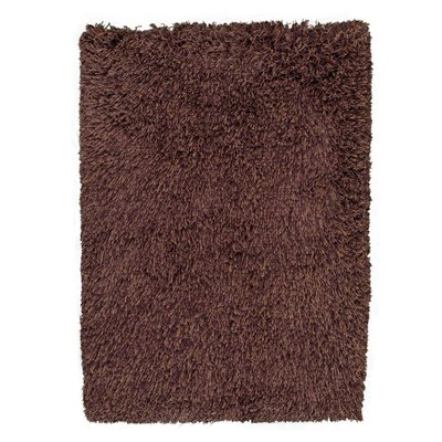 Hoogpolig wollen vloerkleed Highland kleur mixed bruin