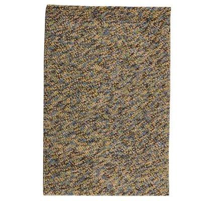 Wollen vloerkleed Kiezel kleur stance