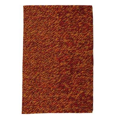 Wollen vloerkleed Kiezel kleur bruin