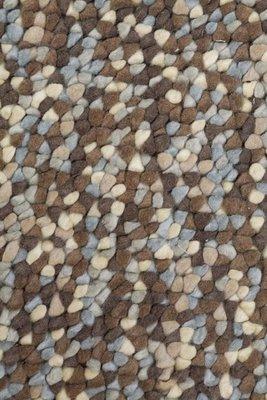 Wollen vloerkleed Kiezel kleur grijs