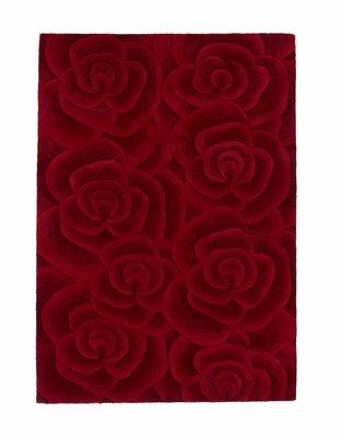 Rood wollen vloerkleed Valentino VL10