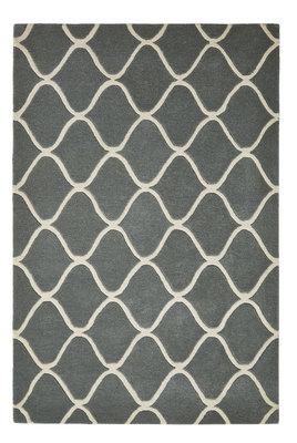 Zuiver wollen vloerkleed Pure Wool kleur blauw EL65