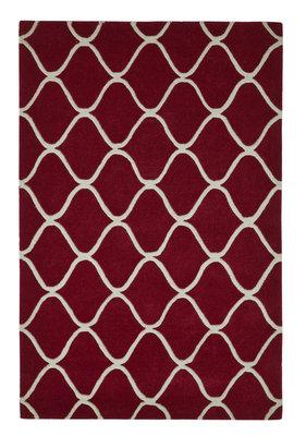Zuiver wollen vloerkleed Pure Wool kleur rood EL65
