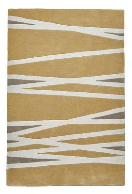 Zuiver wollen vloerkleed Pure Wool kleur geel EL61