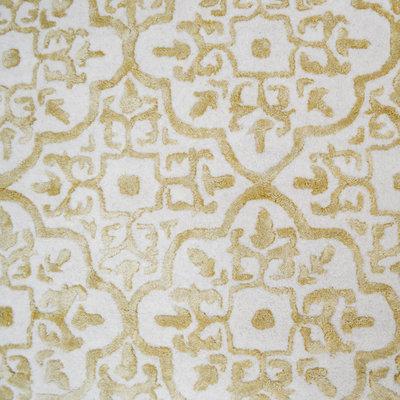 Handgemaakt wollen vloerkleed Mainz kleur gold