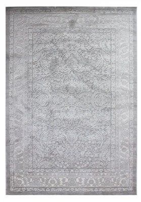 Wollen vloerkleed Sura Huacaya Grijs