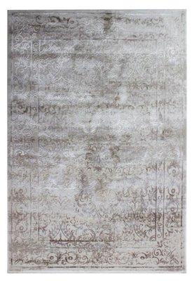 Wollen vloerkleed Sura Huacaya Beige