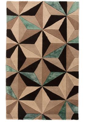 Wollen vloerkleed Bora kleur multicolor