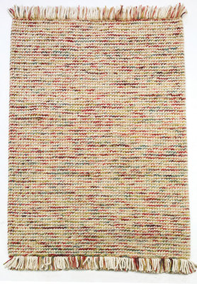Wollen vloerkleed Retail kleur terra