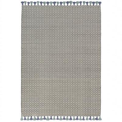 Wollen vloerkleed Belmonte 6016191030 zwart wit groen