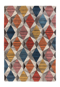 Wollen vloerkleed Madras Multi